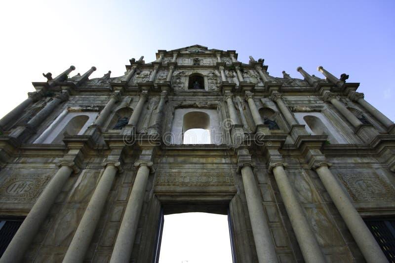Ruínas do St Paul, Macau imagens de stock