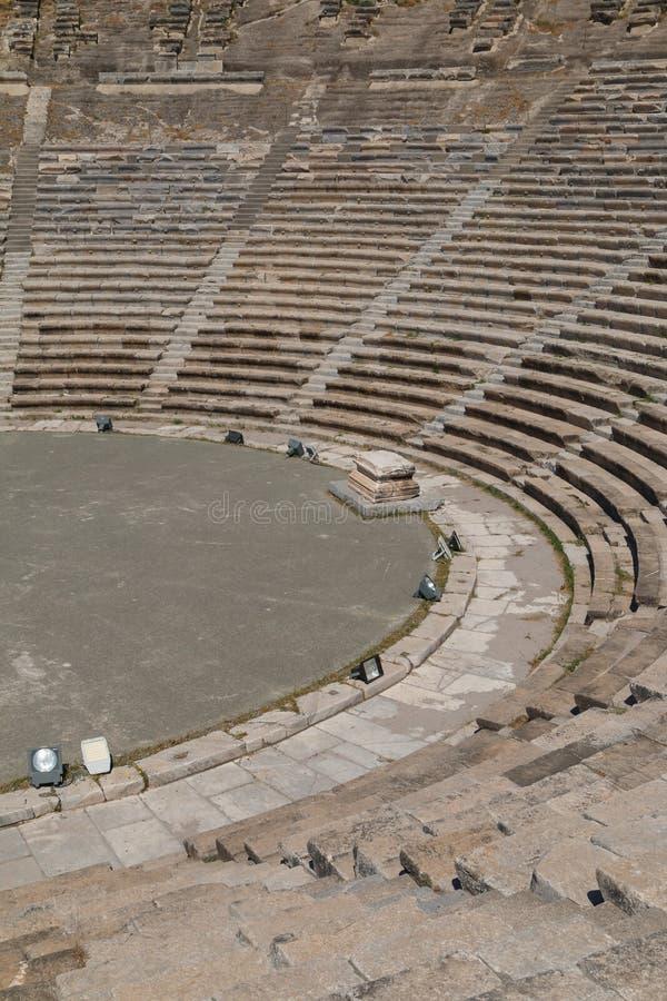 Ruínas do teatro antigo de Halicarnassus, agora Bodrum fotos de stock