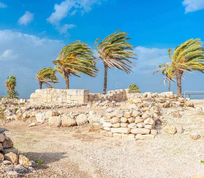 Ruínas do telefone Megiddo imagem de stock