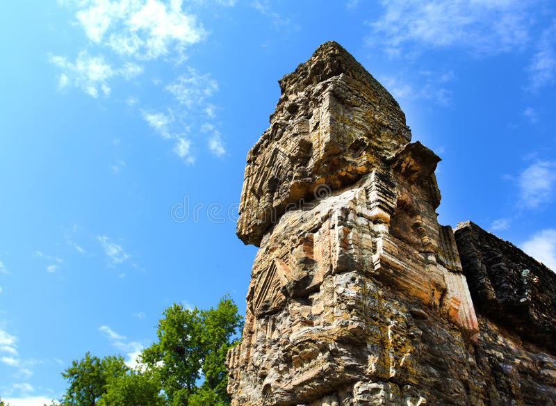 Ruínas do templo foto de stock