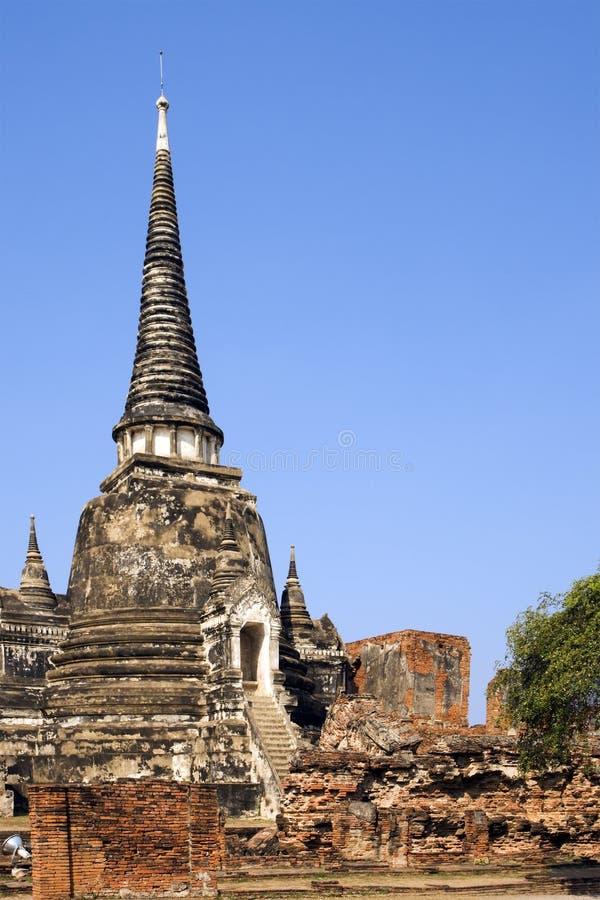 Ruínas do templo budista em Ayutthaya, Tailândia. imagem de stock