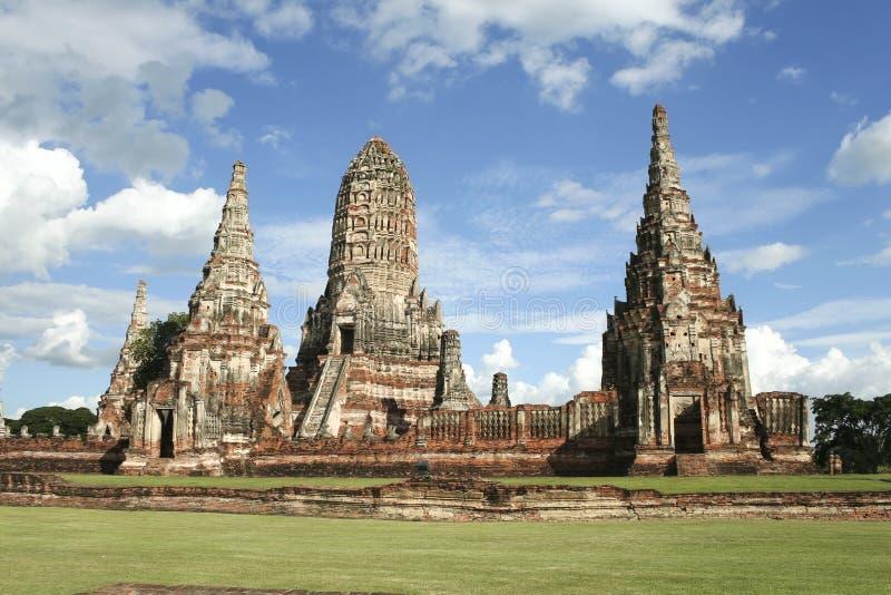 Ruínas do templo de Ayutthaya imagens de stock royalty free
