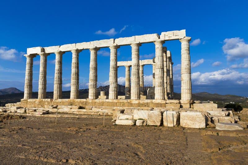 Ruínas do templo de Poseidon foto de stock royalty free
