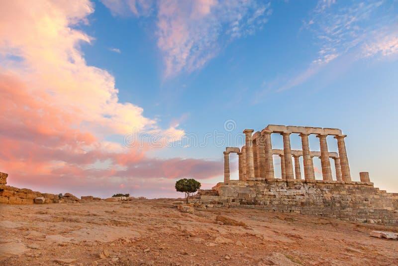 Ruínas do templo de Poseidon fotografia de stock royalty free