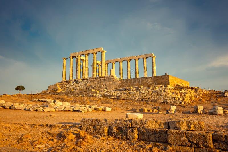 Ruínas do templo de Poseidon imagem de stock