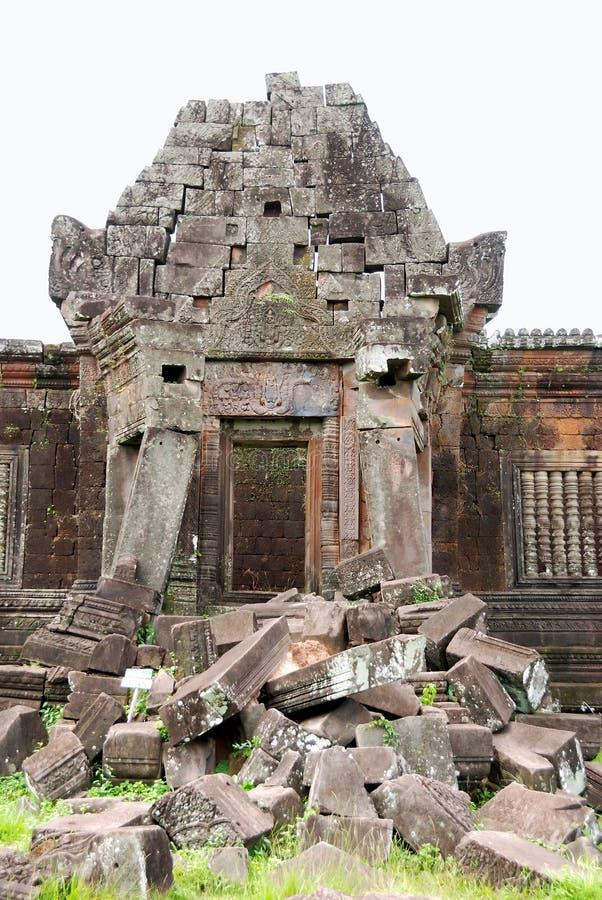 Ruínas do templo do champasak do phu de Wat, laos imagem de stock royalty free