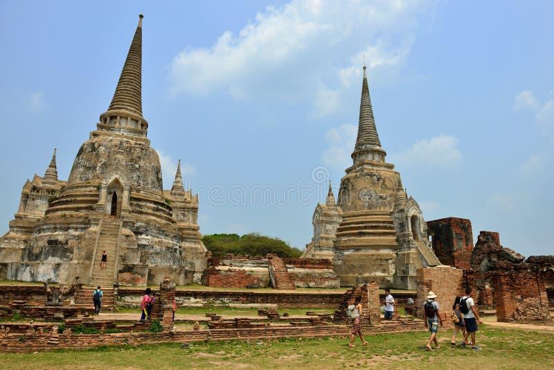 Ruínas do templo, Ayutthaya imagem de stock royalty free