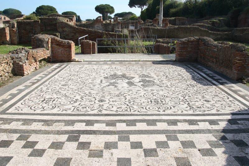 Ruínas dos antica de Ostia imagem de stock