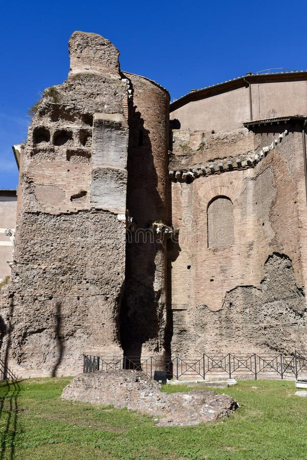 Ruínas dos banhos de Diocletian imagem de stock royalty free