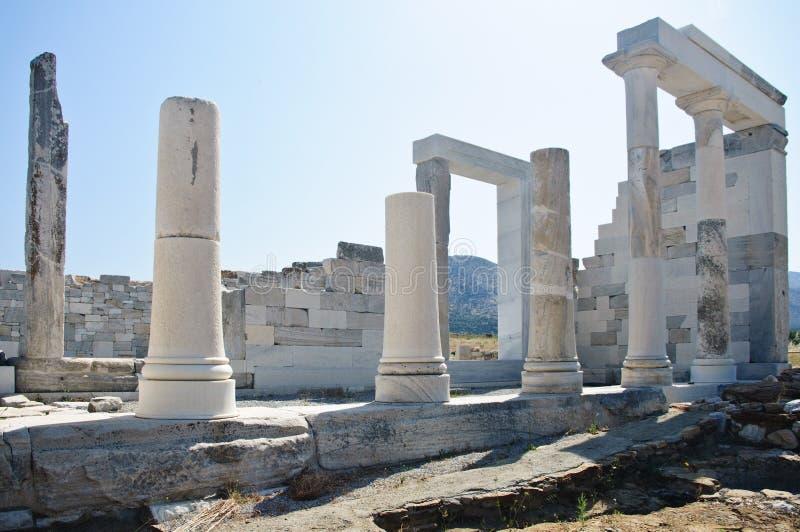 Ruínas e colunas em Greece foto de stock
