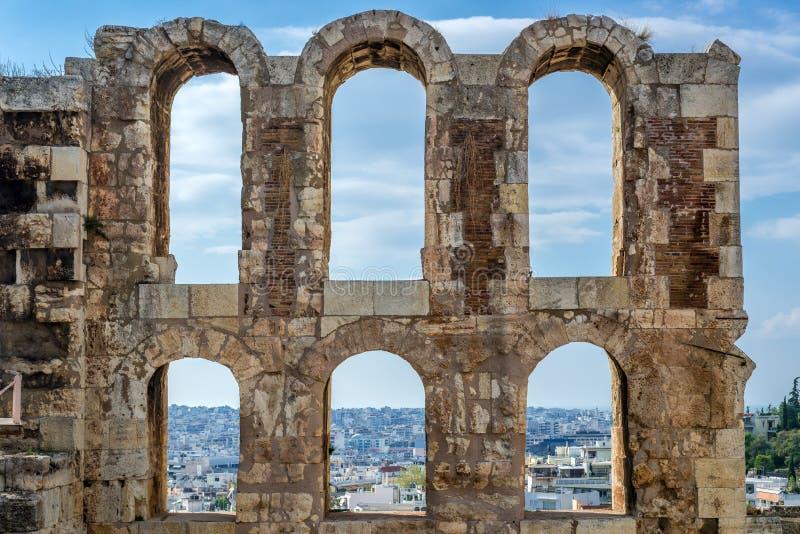 Ruínas em Atenas imagem de stock