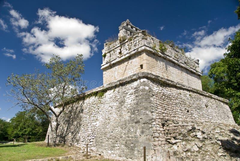 Ruínas em Chichen Itza México imagens de stock