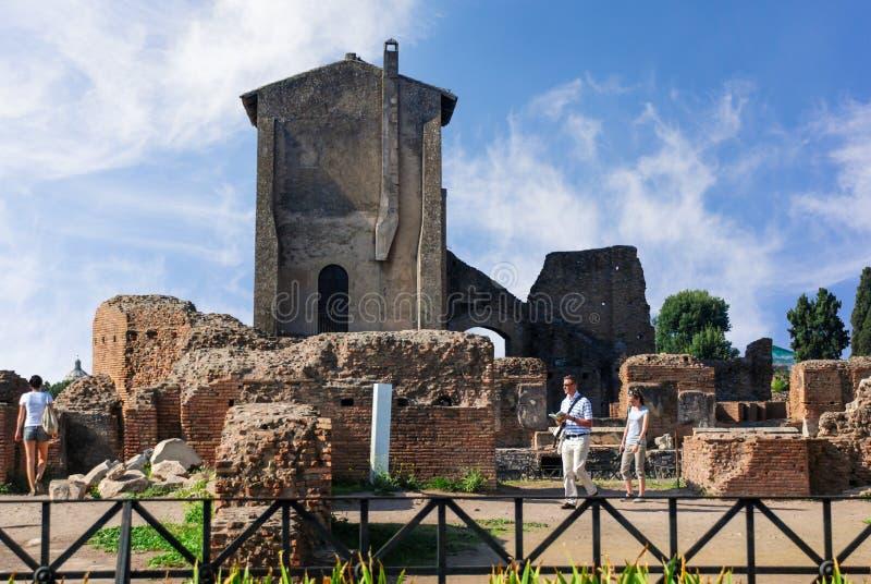 Ruínas em Circulus Maximus em Roma, Itália foto de stock