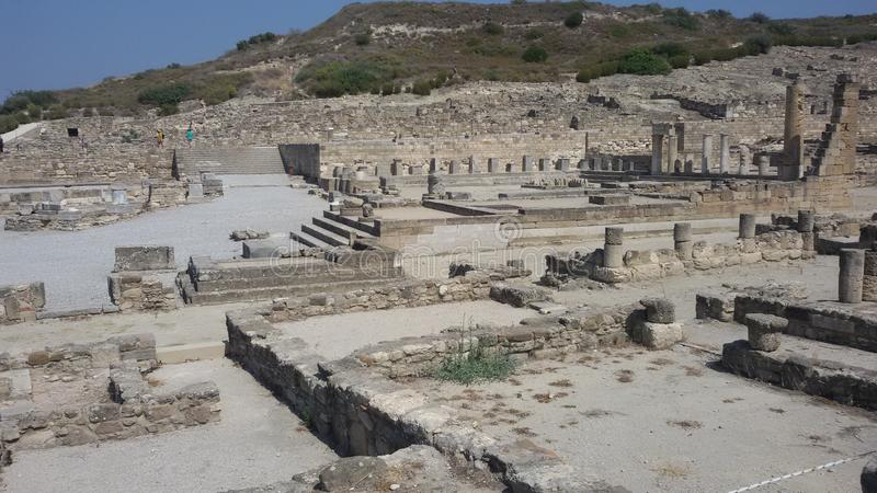 Ruínas em Greece fotos de stock royalty free