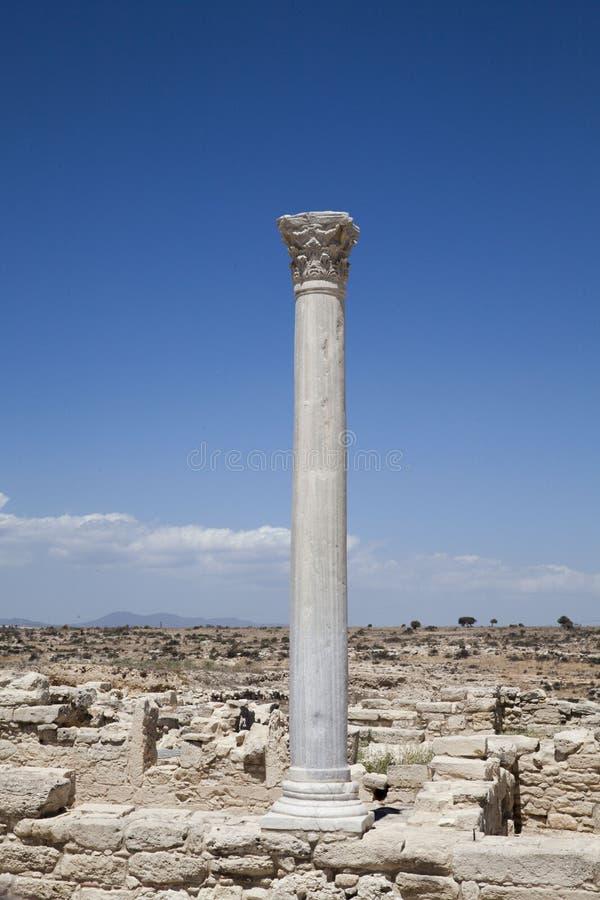 Ruínas em Kourion, Chipre fotografia de stock royalty free