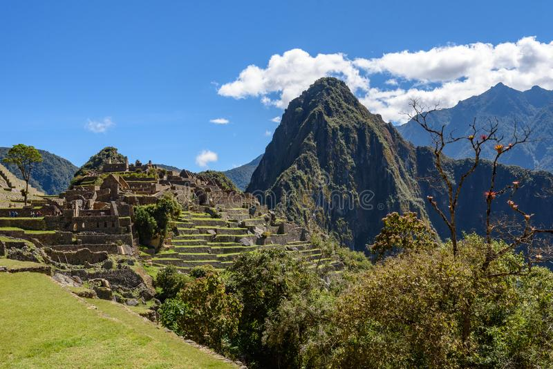 Ruínas em Machu Picchu, Peru fotografia de stock