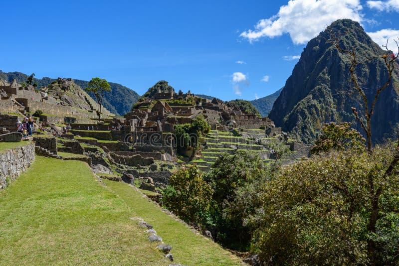 Ruínas em Machu Picchu, Peru fotografia de stock royalty free