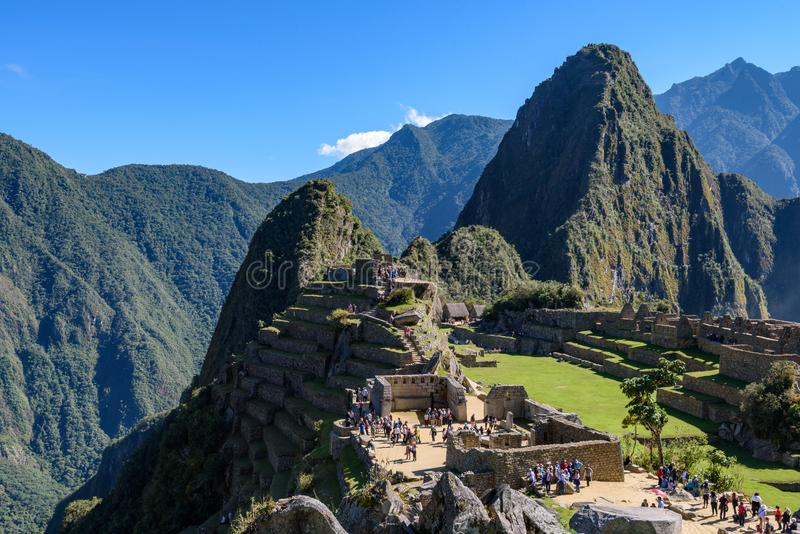 Ruínas em Machu Picchu, Peru foto de stock royalty free