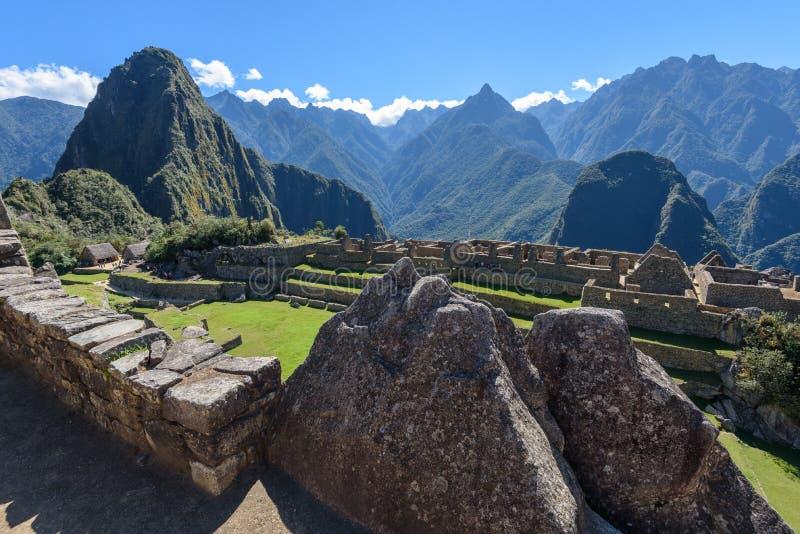 Ruínas em Machu Picchu, Peru imagens de stock