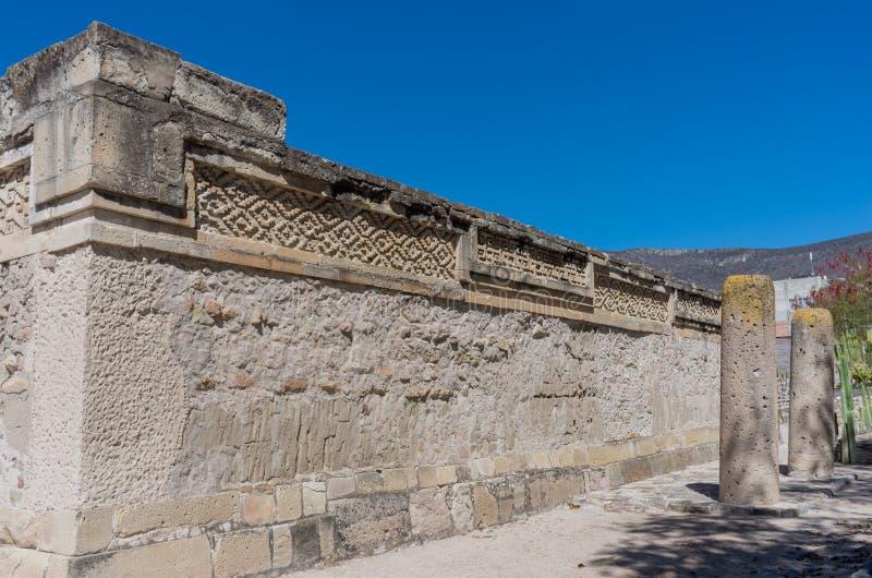 Ruínas em Mitla, México imagem de stock