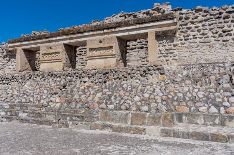 Ruínas em Mitla, México fotografia de stock royalty free