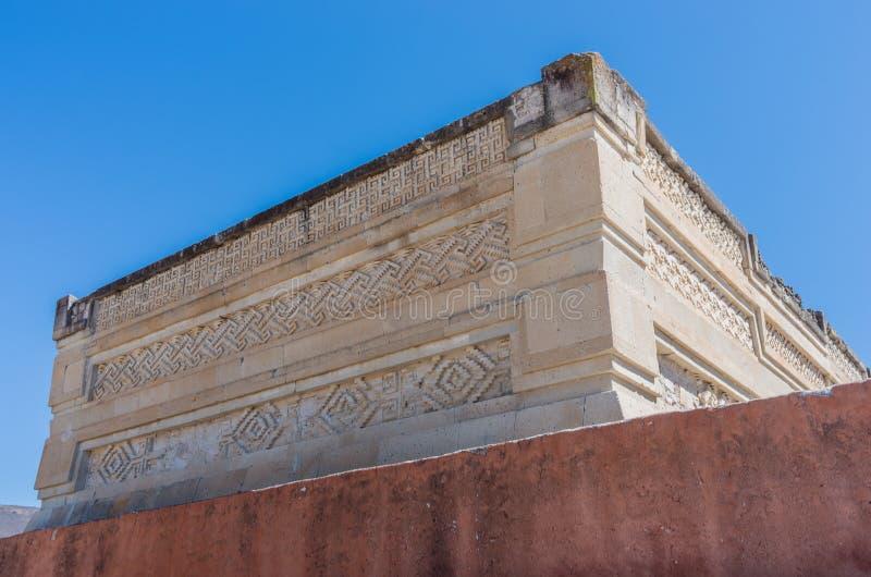 Ruínas em Mitla perto da cidade de Oaxaca Centro da cultura de Zapotec em México fotografia de stock