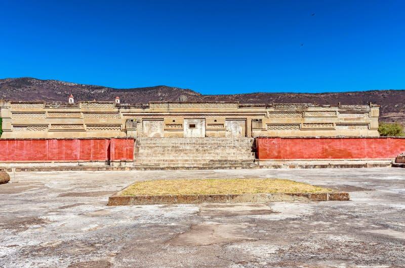 Ruínas em Mitla perto da cidade de Oaxaca Centro da cultura de Zapotec em Mexic fotos de stock