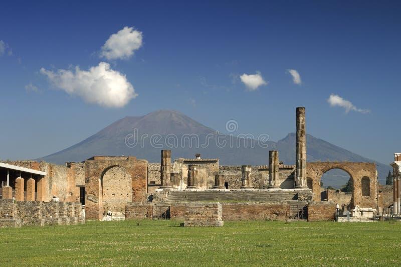 Ruínas em Pompeii, Italy foto de stock royalty free
