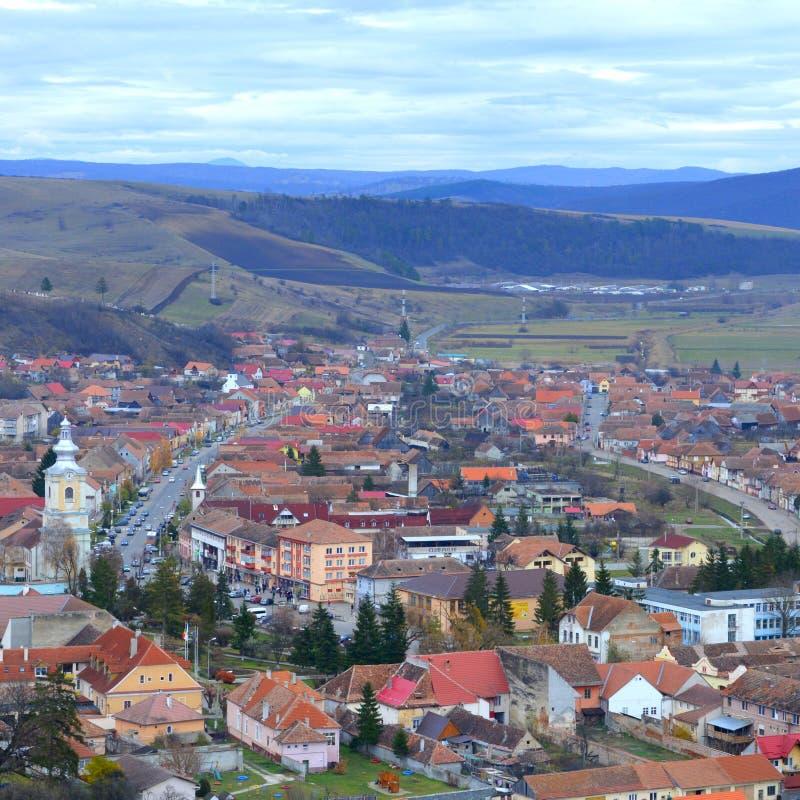 Ruínas em Rupea, Reps - fortaleza medieval Vestígios medievais A Transilvânia, Romania imagem de stock royalty free