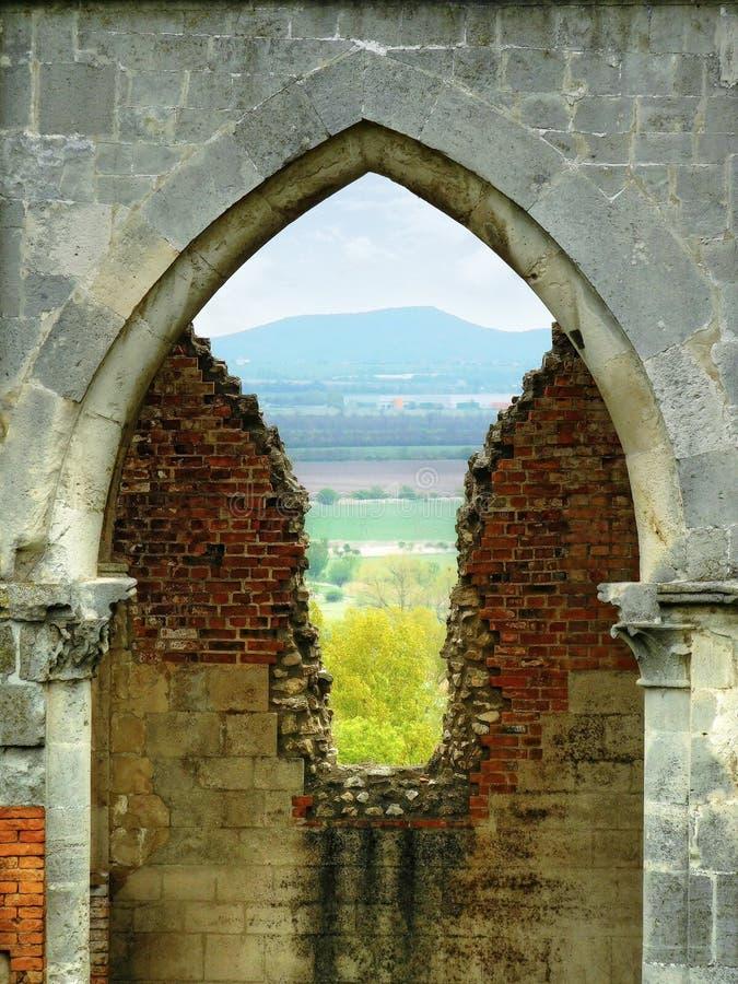 Ruínas góticos imagem de stock royalty free