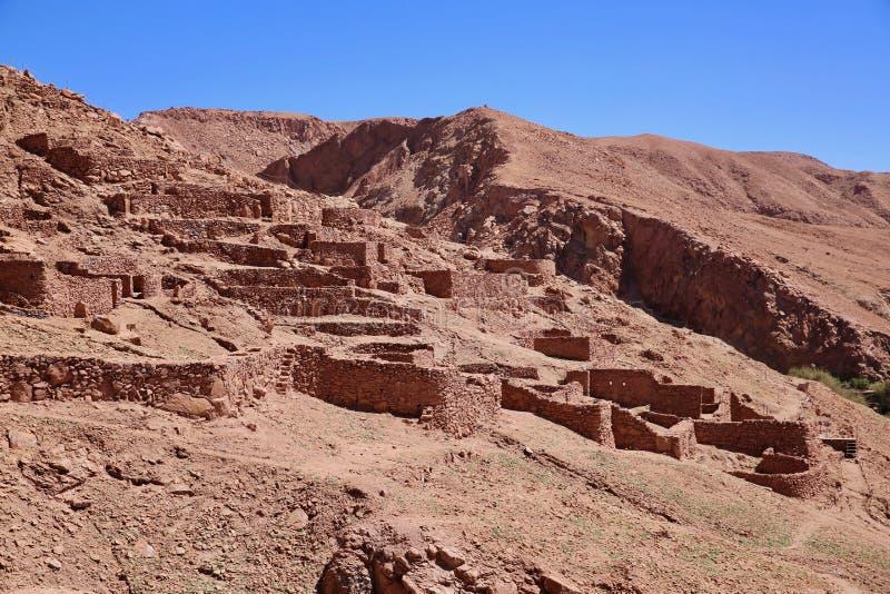 Ruínas Incan antigas no Chile rural fotos de stock royalty free