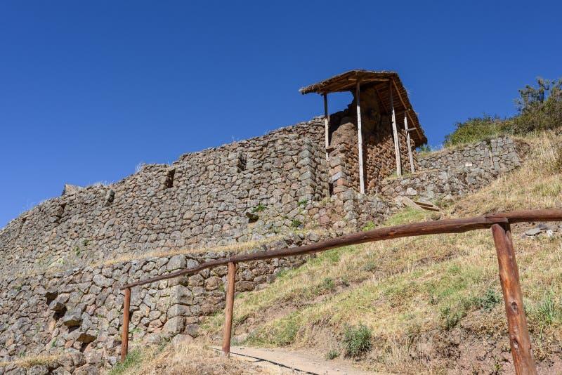 Ruínas Incan em Pisac, Peru imagem de stock royalty free