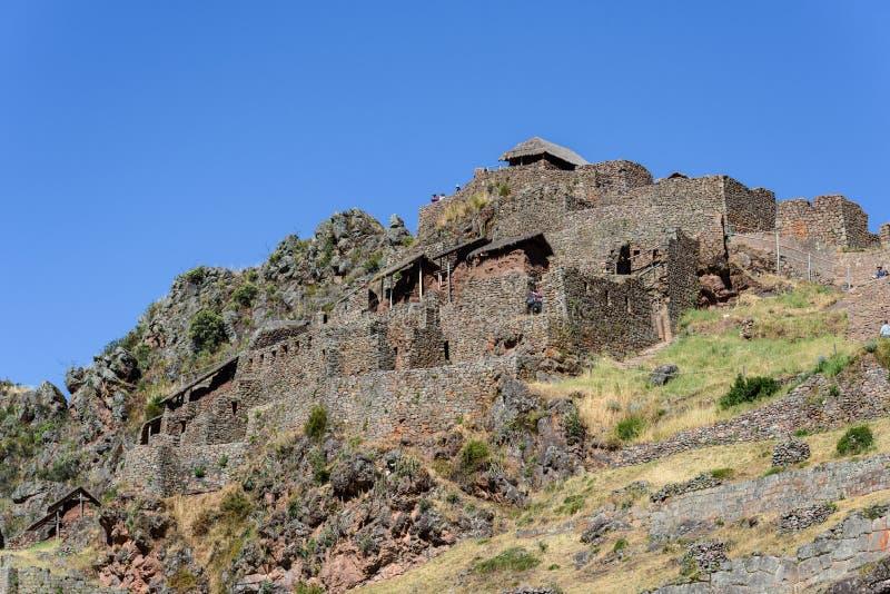 Ruínas Incan em Pisac, Peru fotos de stock