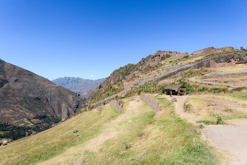 Ruínas Incan em Pisac, Peru foto de stock royalty free