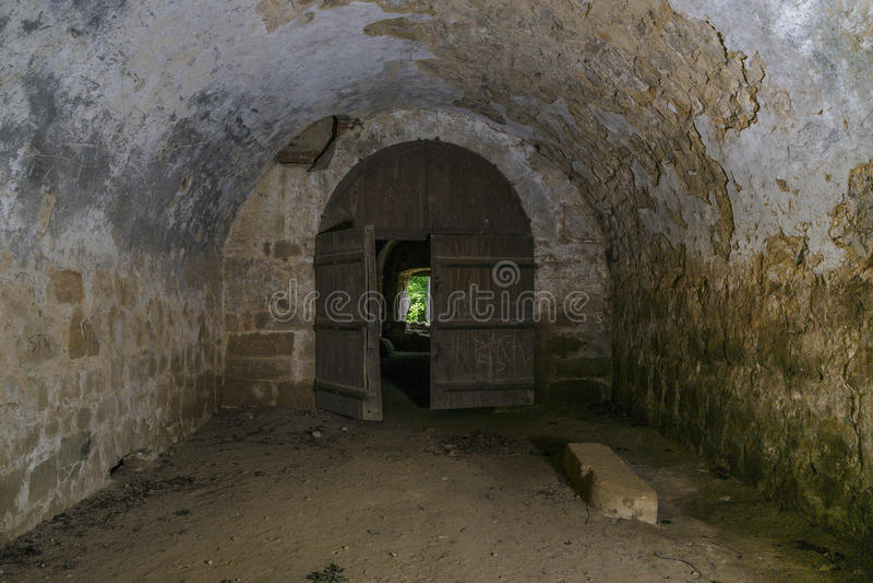 Ruínas internas do castelo imagem de stock royalty free