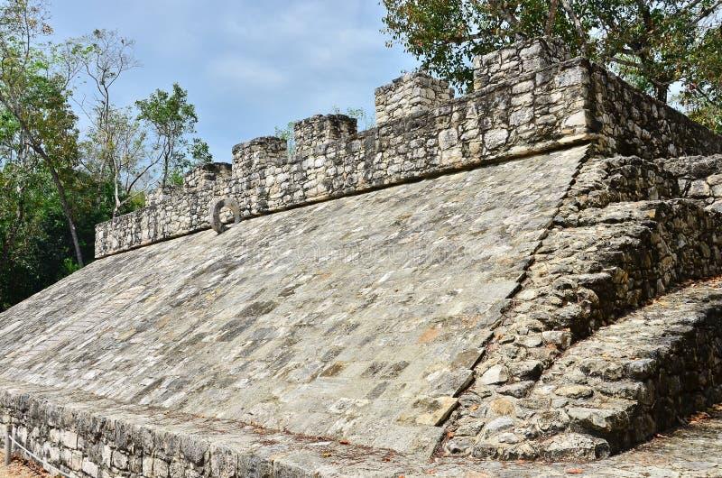Ruínas maias - Coba fotografia de stock royalty free