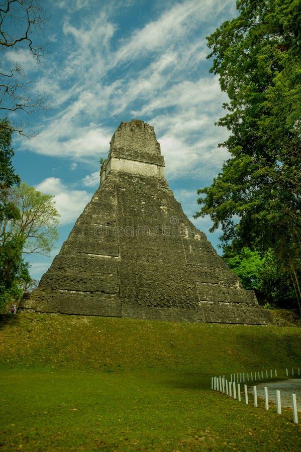 Ruínas maias de Tikal em Guatemala fotografia de stock