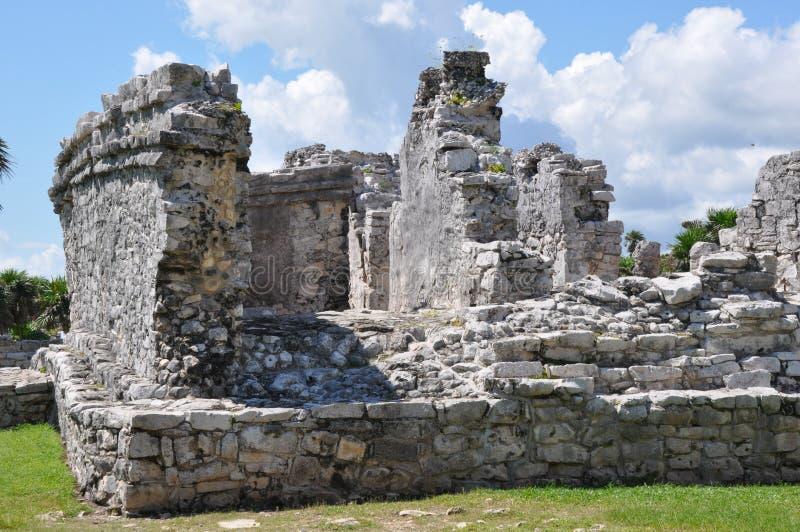 Ruínas maias de Tulum fotografia de stock royalty free