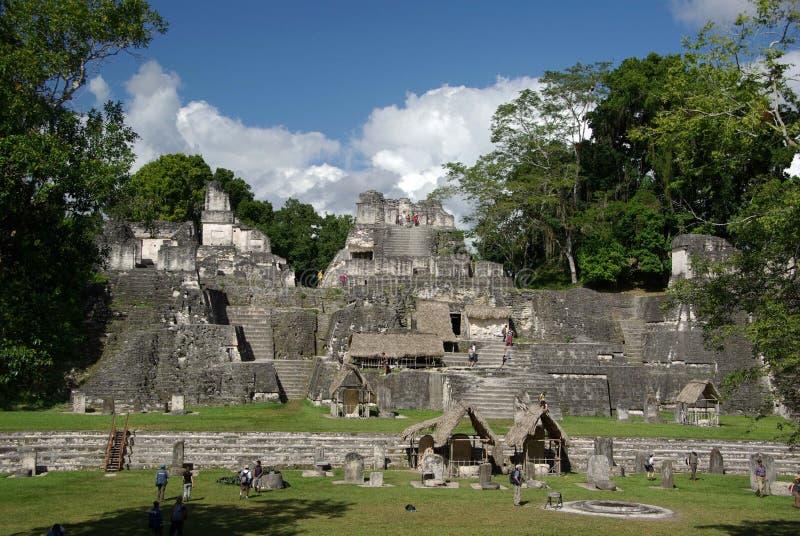Ruínas maias na Guatemala foto de stock