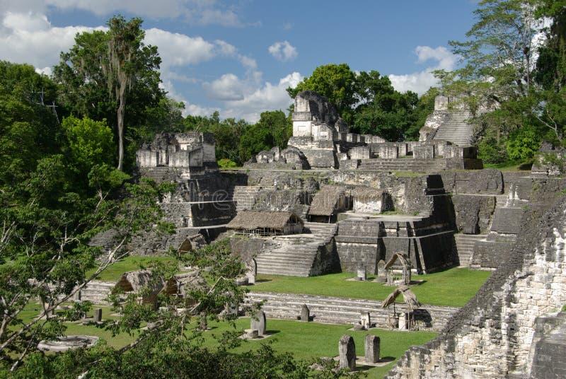Ruínas maias na Guatemala fotos de stock royalty free