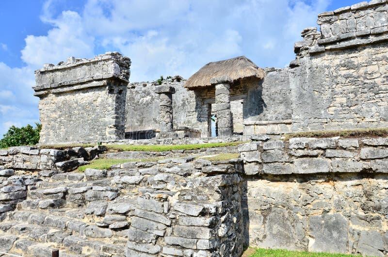 Ruínas maias - Tulum imagem de stock royalty free