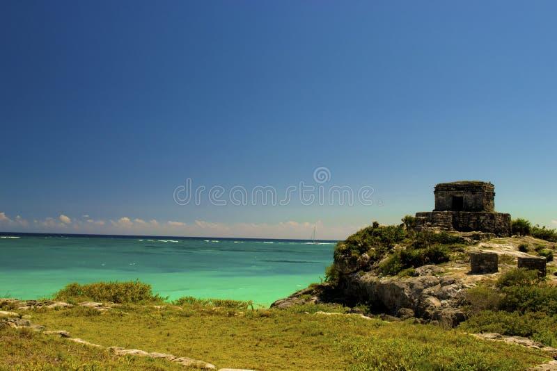 Ruínas maias Tulum imagem de stock