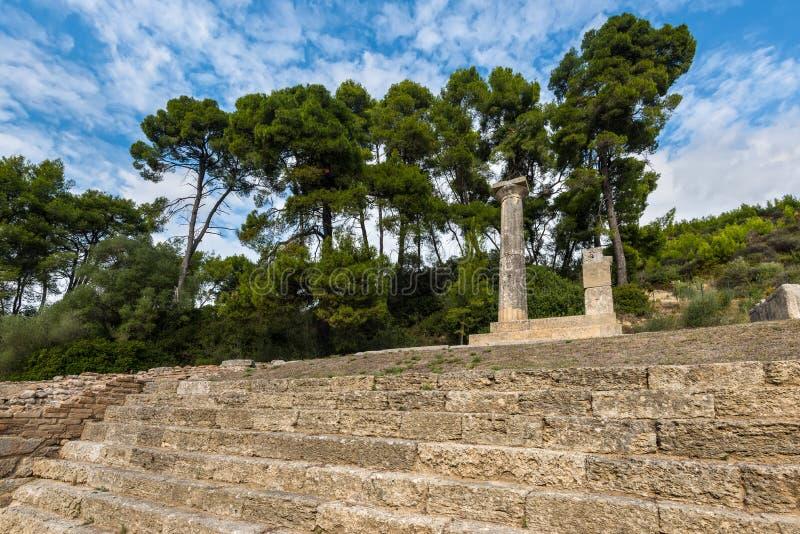 Ruínas na Olympia antiga, Elis, Grécia fotos de stock royalty free