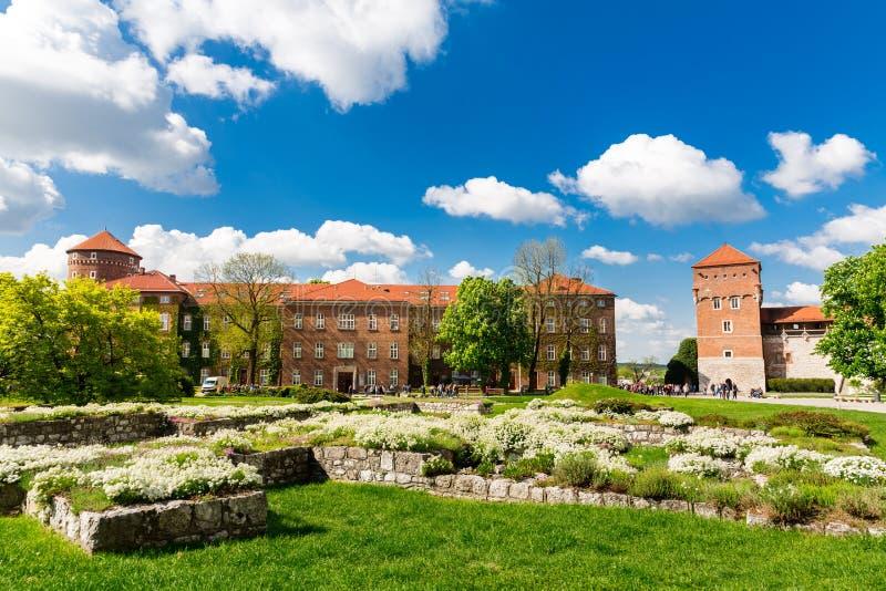 Ruínas na torre do castelo de Wawel, Krakow, Polônia imagens de stock royalty free