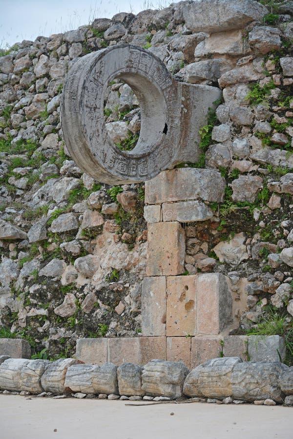 Ruínas no local maia antigo Uxmal, México imagem de stock