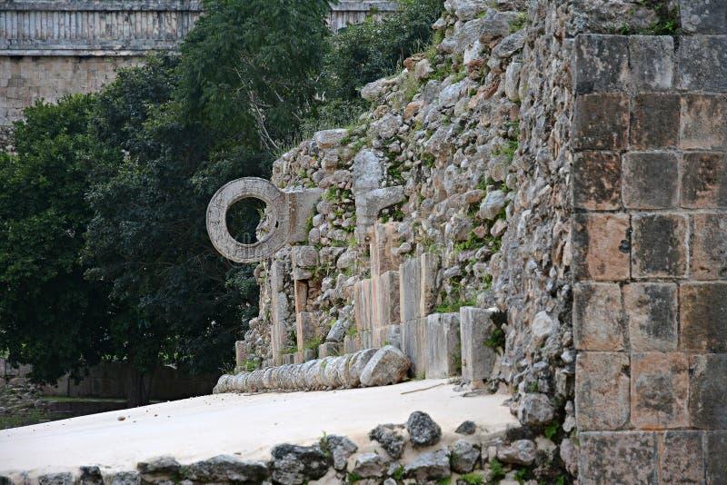 Ruínas no local maia antigo Uxmal, México fotografia de stock royalty free