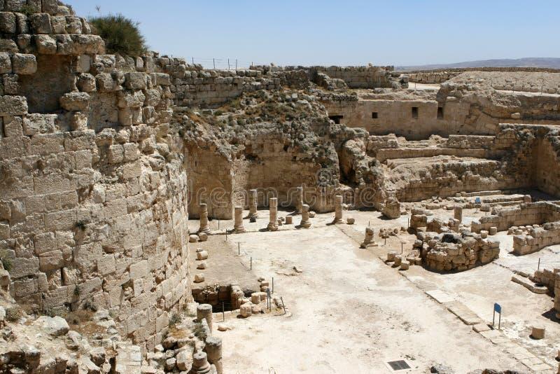 Ruínas no parque nacional de Herodian imagens de stock royalty free
