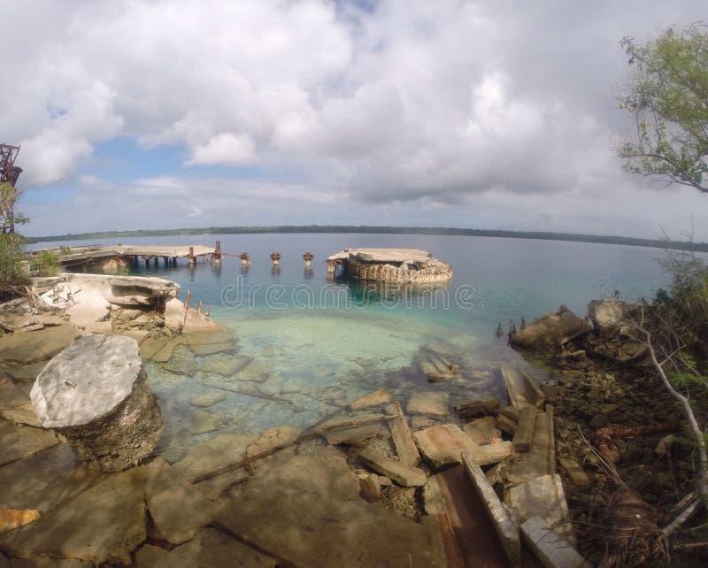Ruínas no South Pacific fotos de stock