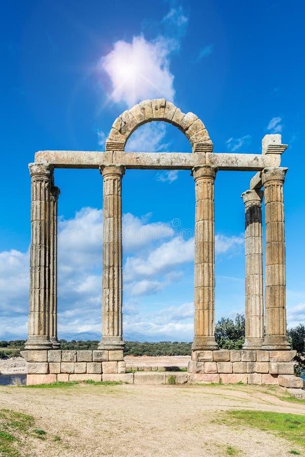 Ruínas romanas de Augustobriga, Caceres Extremadura - Espanha foto de stock royalty free