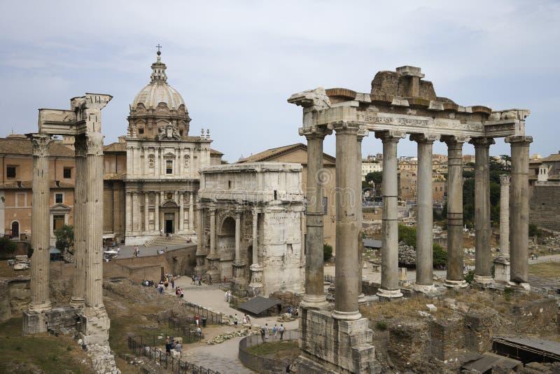 Ruínas romanas do fórum em Italy. imagem de stock royalty free